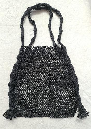 Hand knotted Hemp Market Bag (Black)