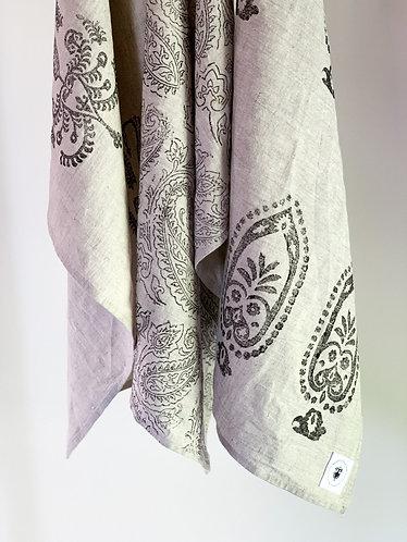 Vintage Print Linen Tea Towels by Weave & Burrow (Set of 3)