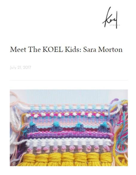 Meet the KOEL Kids: Sara Morton