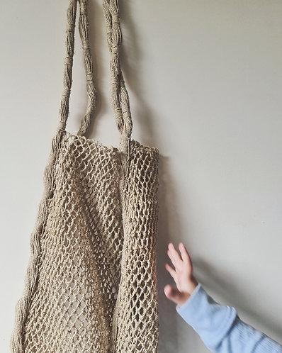 Hand knotted Hemp Market Bag (Natural)