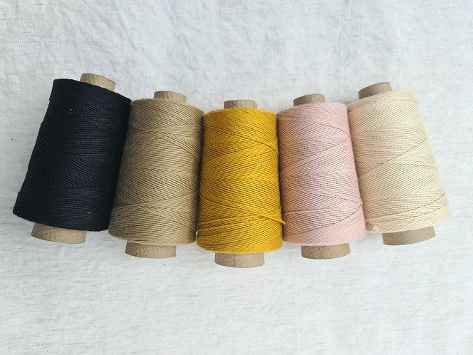 Organic Cotton Warp Yarn 1mm (100g Cone)