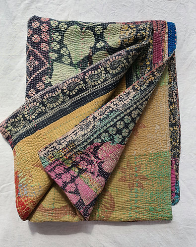 Vintage Kantha Throw (XL) 01/03