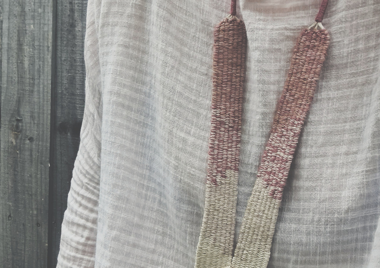 Handwoven statement necklace