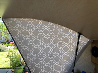 Grey Trellis from Inside of Galley