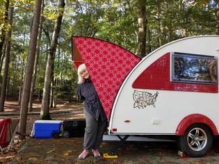 Happy Camper Red Trellis