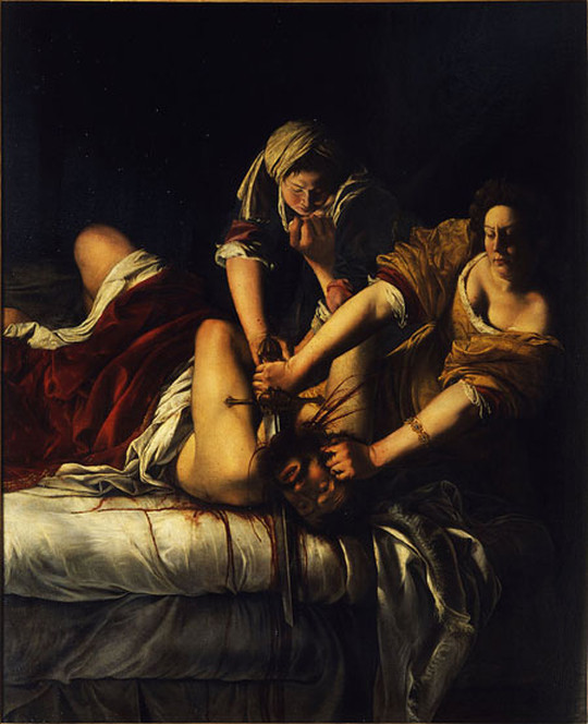Artemisia Gentileschi, Judith Slaying Holofernes, 1620, Uffizi Galleries, Florence Italy