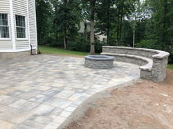 Stone Patio with Firepit - After