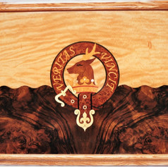 The Keith clan crest intarsia plaque