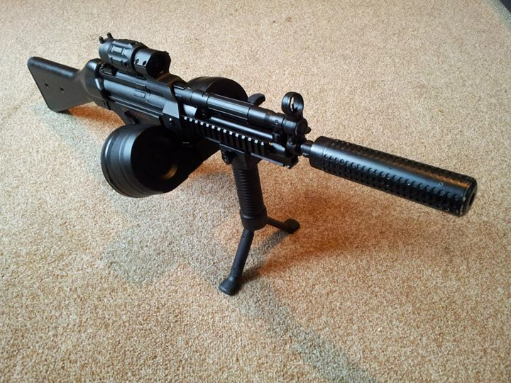 Facebook - A JG Full Metal MP5 with custom gearbox, MOSFET, Prometheus barrel, M