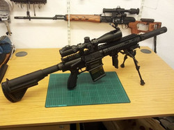Facebook - VFC HK417 with Leapers UTG Scope, MadBull Airsoft Surefire FA762SS 9.
