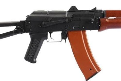 Jing Gong AKS 74U Blow Back AEG Rifle - Real Wood