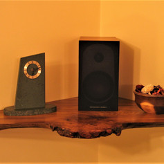 Burr-Elm Corner Shelf
