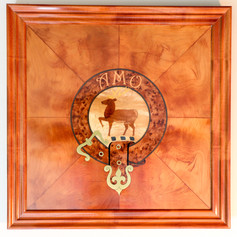 The Scott clan crest intarsia plaque