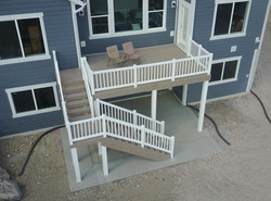New home construction decking and ra
