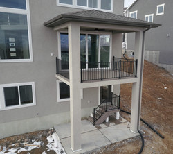 New construction decking and railing