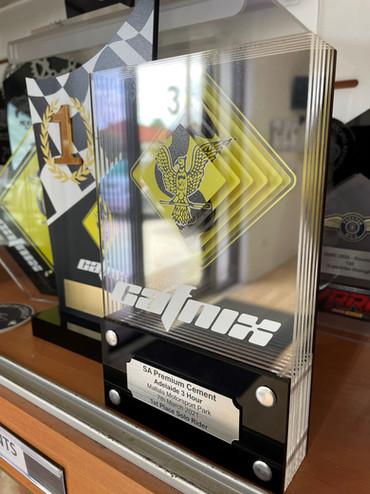 Layered acrylic trophy