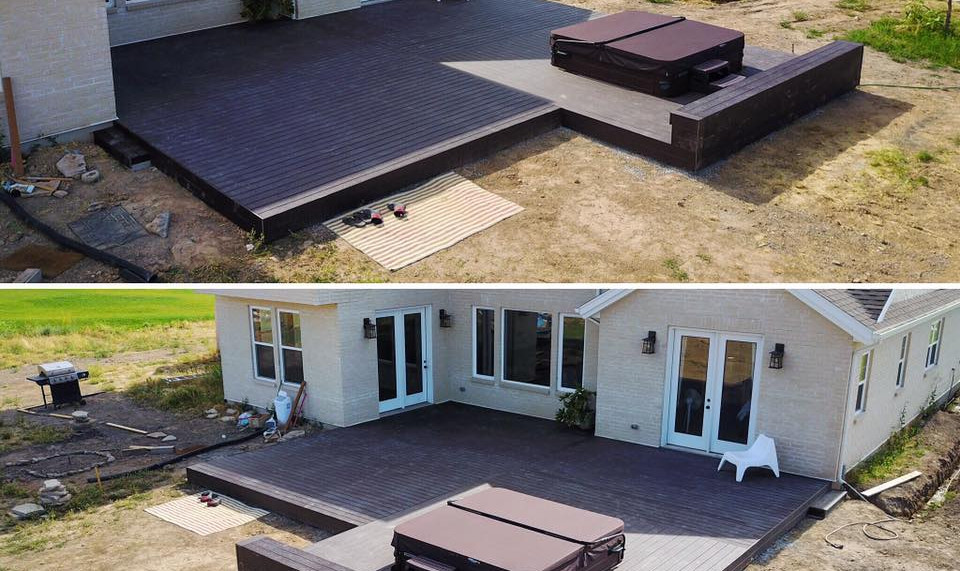 Trex deck with hot tub