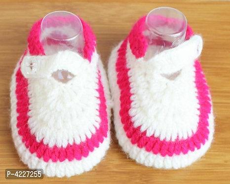 Infant Handmade Crochet Woolen Booties (Pack of 2)