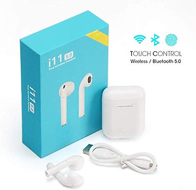 i11 TWS wireless Bluetooth Earbuds with mic & full touch control