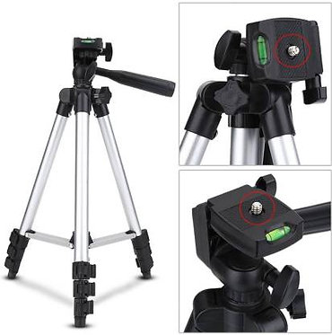 EASYTP Tripod 3110 stand With 3-Way Head Digital Camera Tripod with Mobile Clip