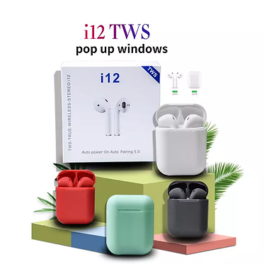 i12 TWS wireless Earbuds with mic & full touch control