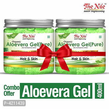 The Nile 100% Pure Aloe Vera Gel For Young and Radiant Skin and Hair 400 ML