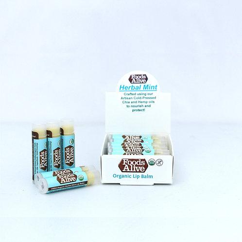 Hemp & Chia Herbal Lip Balm, Organic & Vegan