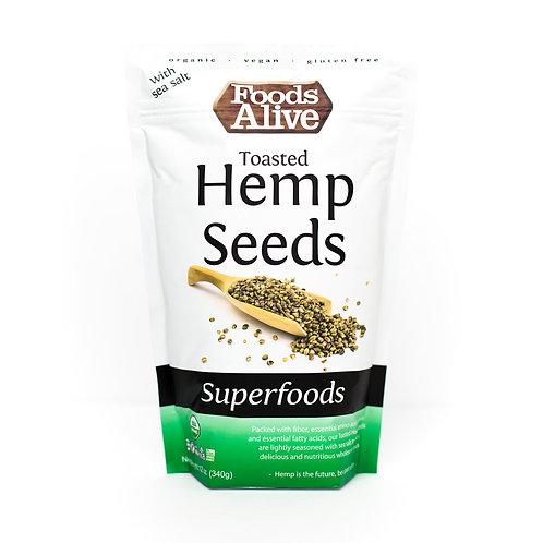 Toasted Hemp Seeds - Organic