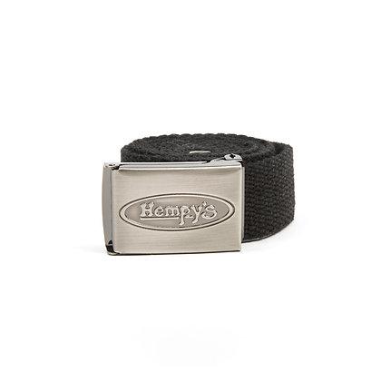 """Hemp Banzai (1.25"""") Belt, Black"""
