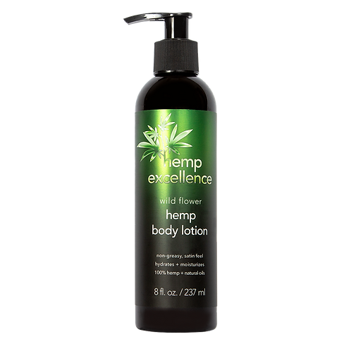 Hemp Excellence Hemp Seed Oil Body Lotion, Wildflower