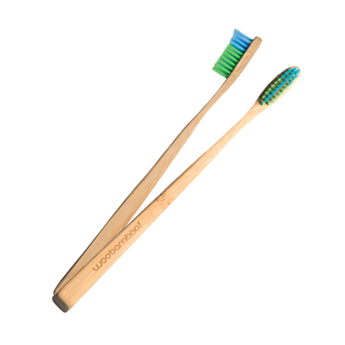 WooBamboo Slim Handle Adult Bamboo Toothbrush
