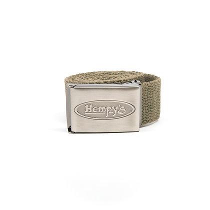 "Hemp Banzai (1.25"") Belt, Distressed Army Green"
