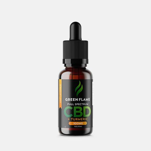 Green Flame Hemp Full-Spectrum CBD Drops with Turmeric