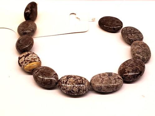 Obsidienne flocon ovale