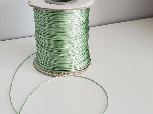Fil polyester ciré Vert pâle