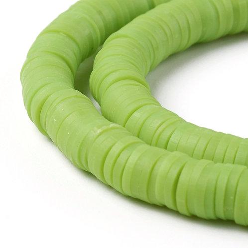 Perles Heishi - Vert chartreuse