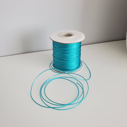 Fil polyester ciré Turquoise