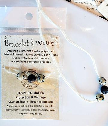 Bracelet à voeux - Protection & Courage