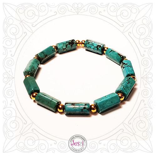 Bracelet Turquoise reconstruite