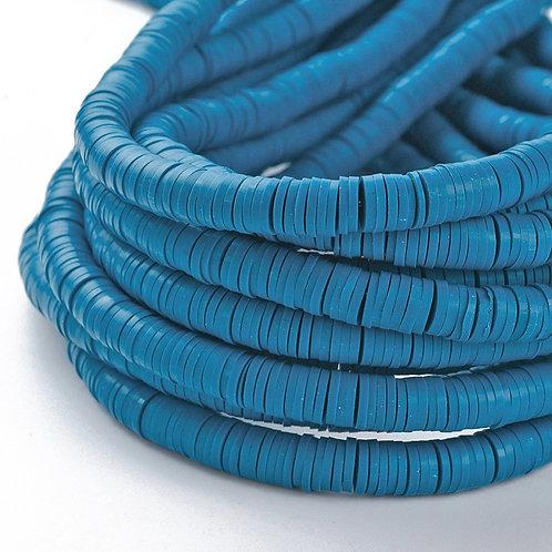 Perles Heishi - Bleu acier