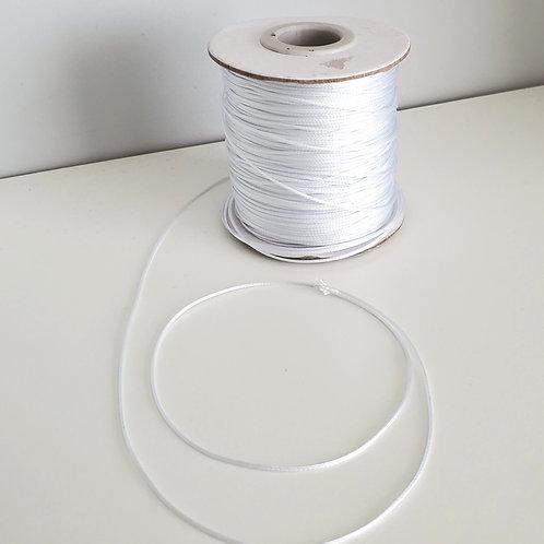 Fil polyester ciré Blanc