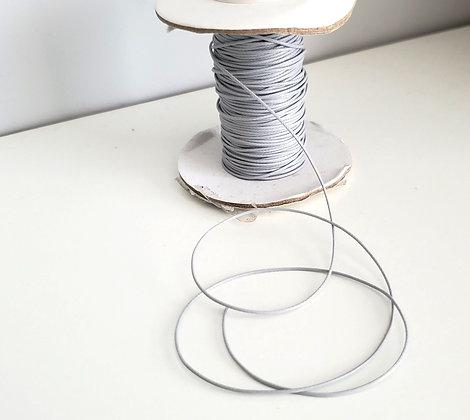 Fil polyester ciré gris perle
