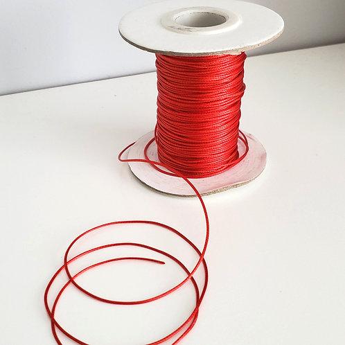 Fil polyester ciré Rouge