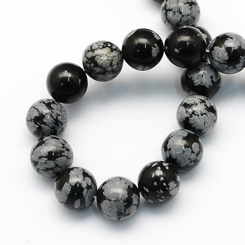Obsidienne flocon 8~8.5mm