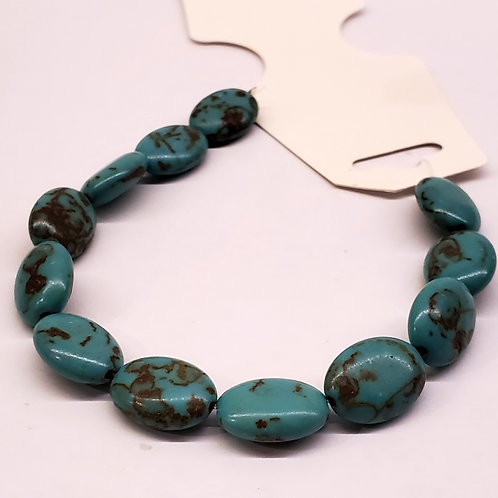 Turquoise reconstruite ovale