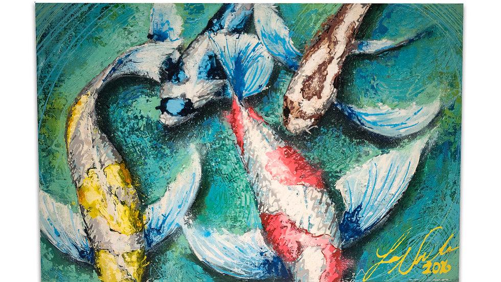 The Artist's Fish |  Luis Saldana | Acrylic on Canvas