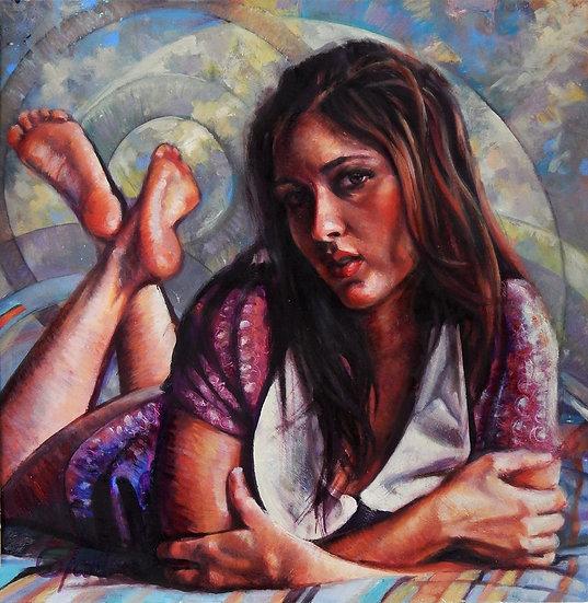 Alluring Purple | Greg Lahti | Oil on Panel