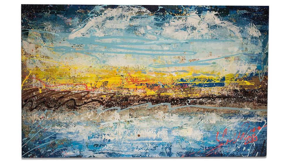 Sunset at the Lake | Luis Saldana | Acrylic on Canvas