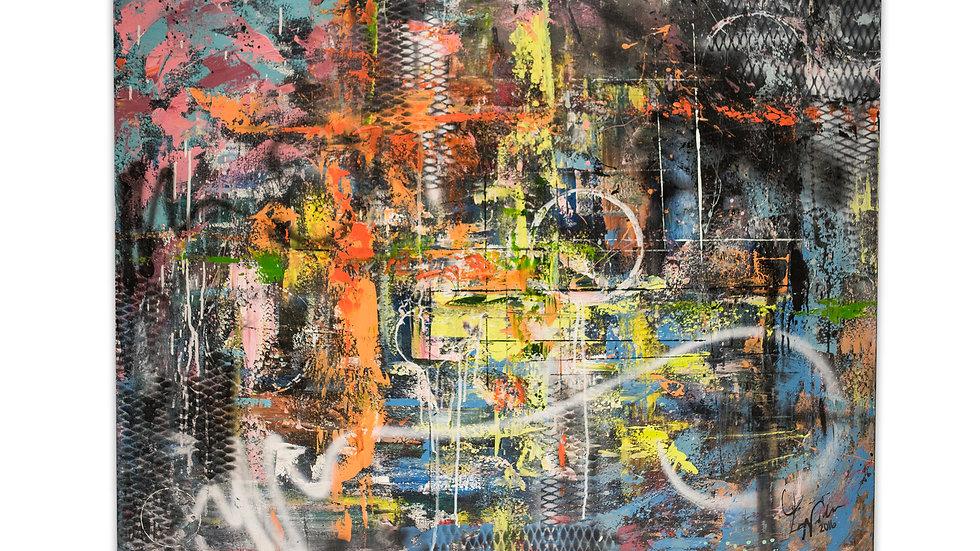Chaos | Luis Saldana | Mixed Media on Canvas