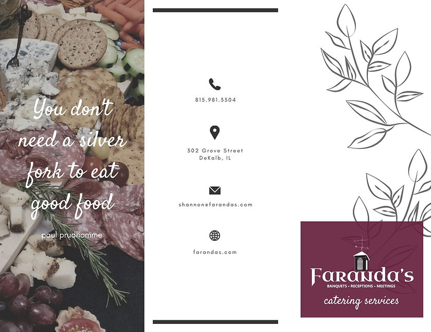 Faranda's Catering Trifold Brochure